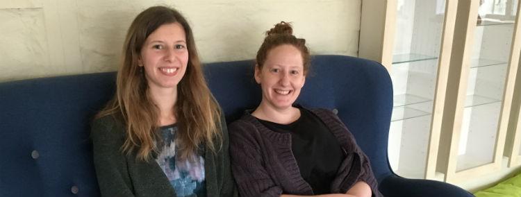Hanna, 33 år og kandidat i Flytningestudier og Eva, 32 år og Journalist